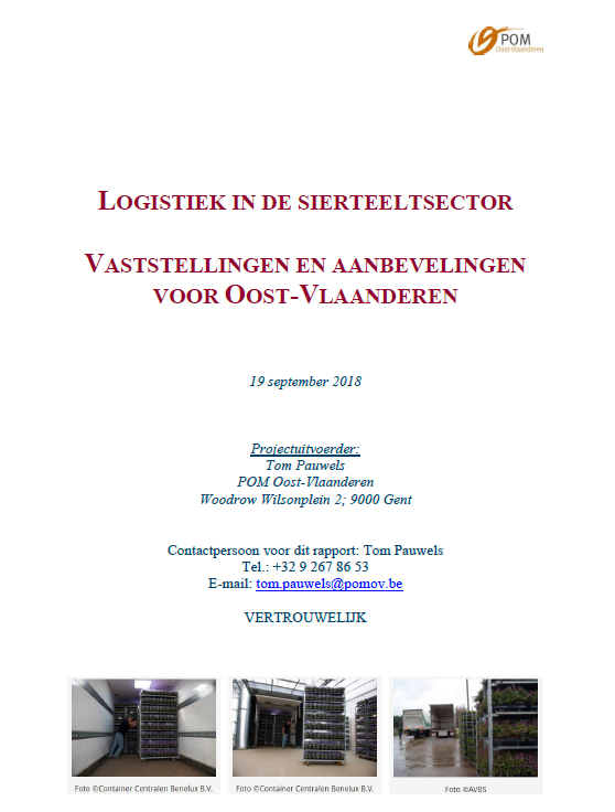 cover Logistiek in de sierteeltsector 2018